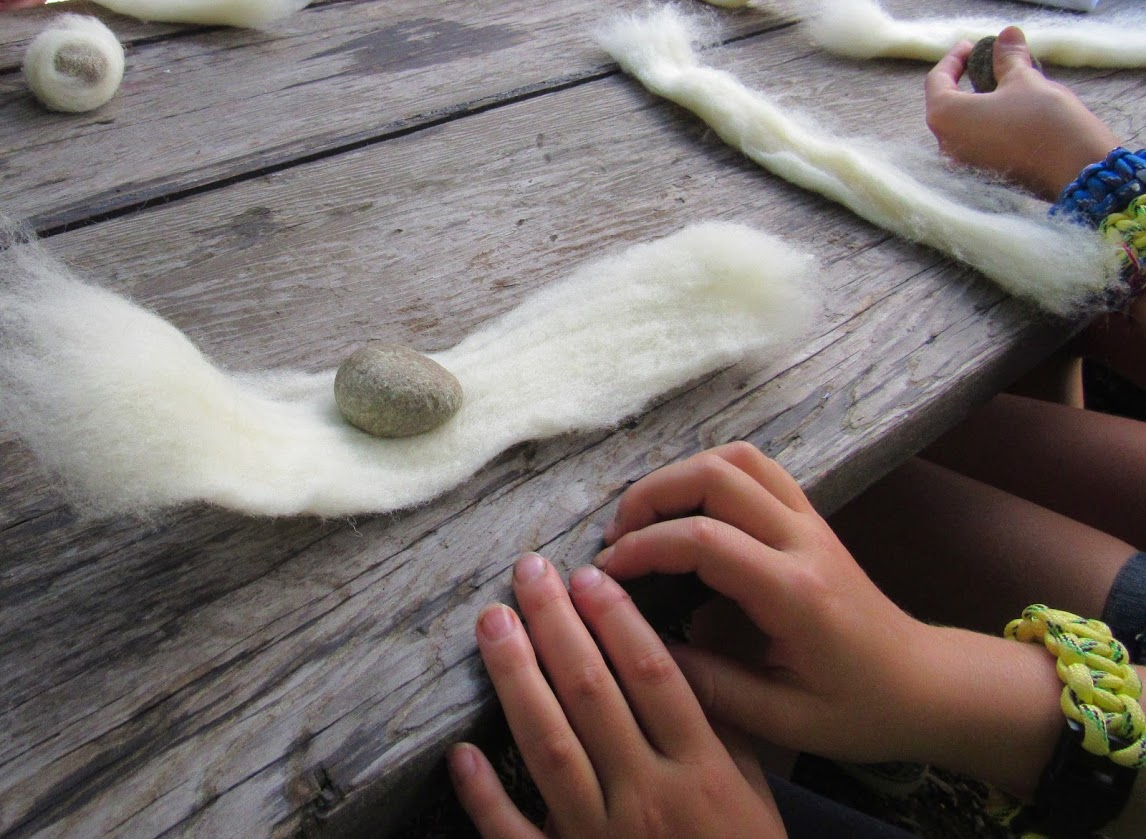 felting rocks