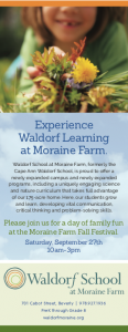 Morain Farm Fall Festival announcement