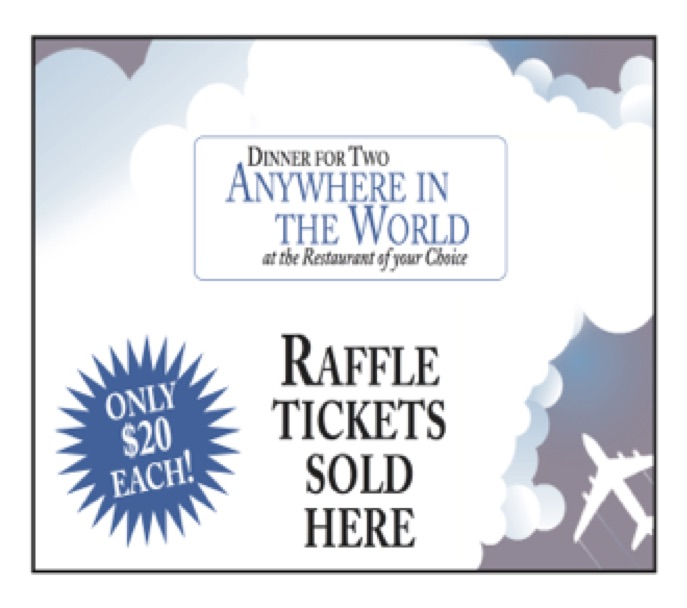 Dinner for Two Anywhere in the World Raffle