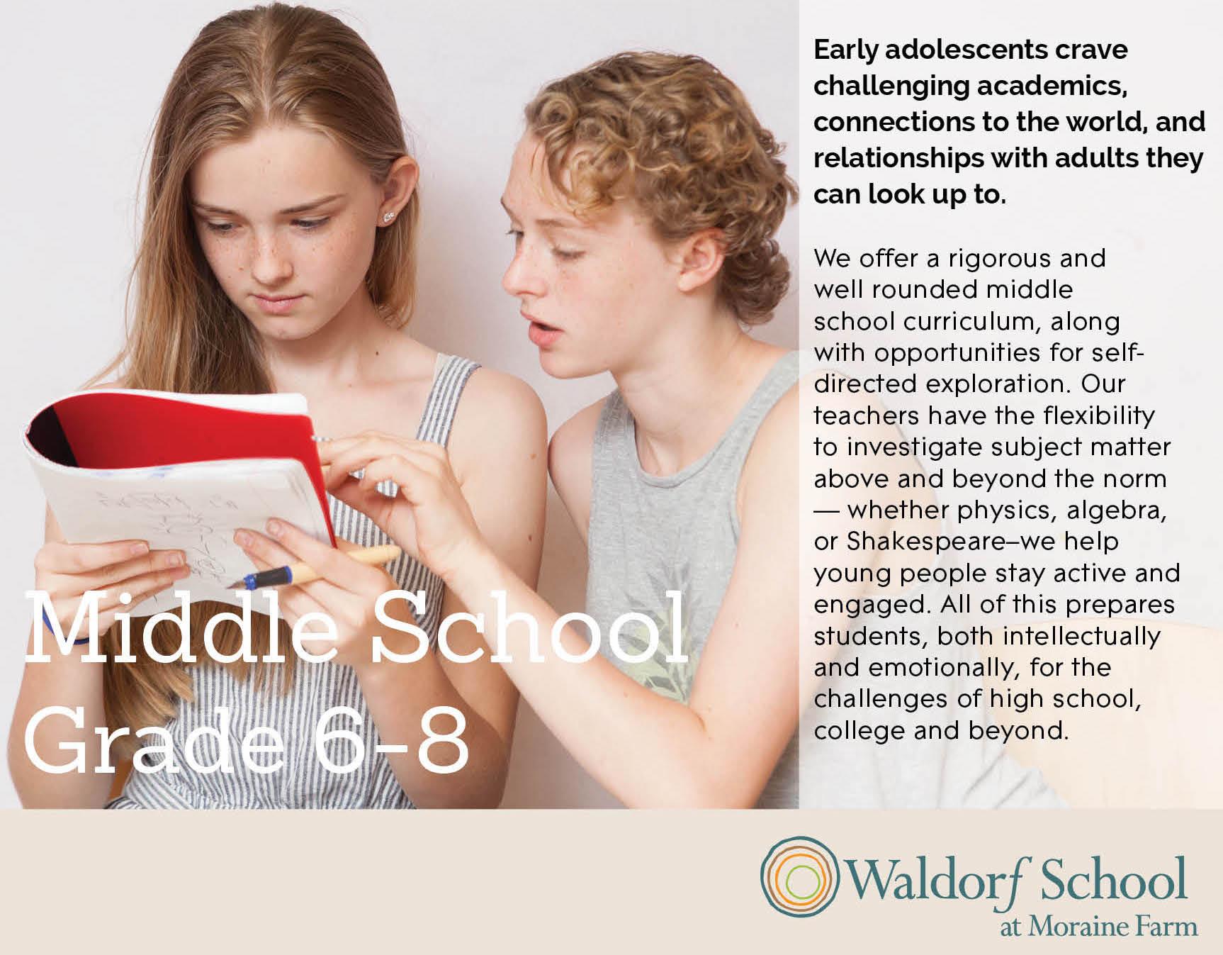 Middle School Curriculum Night | Waldorf School at Moraine Farm